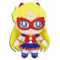 "Great Eastern Sailor Moon Chibiusa Chibi Moon 8/"" Stuffed Plush Authentic USA"