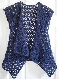 Ravelry: Mesh Vest pattern by Doris Chan Free crochet pattern Ravelry: Mesh Vest pattern by Doris Chan. I'd like to make this shape but from material, preferably cotton or viscose. Ravelry: Mesh Vest pattern by Lion Brand Yarn (crochet - free) - try to fi Gilet Crochet, Crochet Cardigan Pattern, Crochet Jacket, Crochet Scarves, Crochet Shawl, Crochet Clothes, Knit Crochet, Crochet Vests, Shrug Pattern