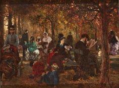 Adolph Menzel - Der Luxemburg-Garten (Erinnerung an den Luxemburg-Garten) 1872