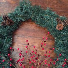 Festive Winter Wreath by AuntFaithsCraftShop on Etsy