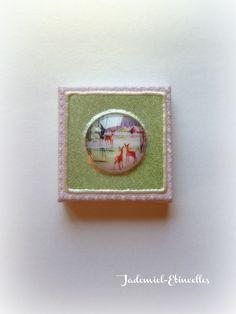 """Mini toile décorative série """" Douce Nuit ... """" n°55 : Accessoires de maison par jademiel-etincelles"""