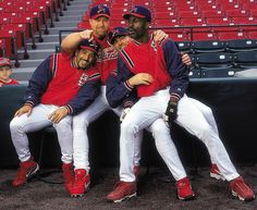 Fernando Vina, Mark McGwire, Jim Edmonds and Shawon Dunston, 2000
