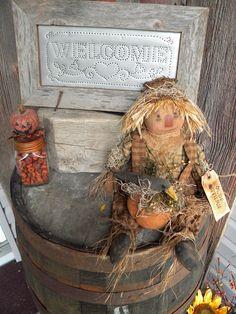 Fall Decorating Scarecrow 2012