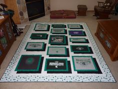 t shirt quilts | How to Make a Quilt Pattern With T-Shirts | eHow.com