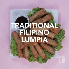 Traditional Filipino Lumpia - - This is a traditional Filipino dish. It is the Filipino version of the egg rolls. It can be served as a side dish or as an appetizer. Lumpia Recipe Filipino, Easy Filipino Recipes, Filipino Dishes, Asian Recipes, Filipino Food Party, Filipino Egg Rolls, Vietnamese Egg Rolls, Chinese Egg Rolls, Gastronomia