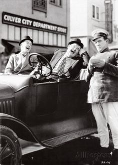 #Laurel and Hardy in Leave 'Em Laughing  #Culver City Hardware Store #Hal Roach Studios/Culver City