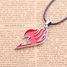 This Fairy Tail necklace is a must-have for Fairy Tail fans! It comes in 5 different colors and adds a classy touch to any wearer - perfect as a gift for Fairy Tail fans. Fine or Fashion: Fashion Item