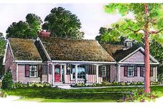 compact ranch home plan by guest designer rod pfotenhauer is ideal for a young family or empty nesters needing less space than in the past - House Plans Drive Through Carport