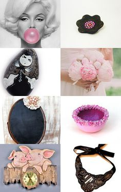 Black or pink? by Gioconda Pieracci on Etsy--Pinned with TreasuryPin.com