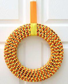8 Candy Corn Crafts to Make: Candy Corn Wreath