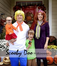 Find out how we put together our easy costume attire for our annual family themed costumes. Scooby Doo Halloween Costumes, Homemade Halloween Costumes, Family Halloween Costumes, Halloween Pictures, Halloween Season, Halloween Fun, Easy Diy Costumes, Costume Ideas, Halloween Party Activities