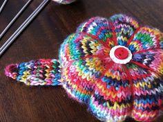 Daisy Wrist Knit Pincushion