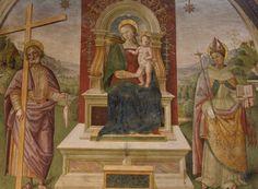 Perugino (1446-1523, Italy) | Madonna con Bambino e Santi (Montefalco, Italy, Chiesa di San Francesco)