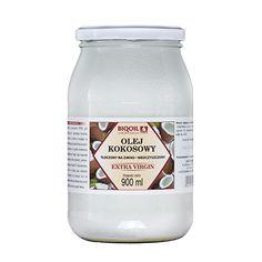 Najwyższej jakości olej kokosowy nierafinowany tłoczony na zimno. Sprawdź koniecznie jego smak i piękny aromat! Water Bottle, Drinks, Food, Drinking, Beverages, Essen, Water Bottles, Drink, Meals
