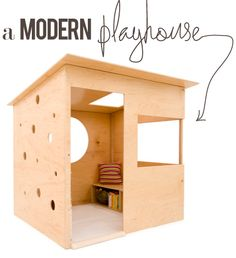 very cool. modern kids' playhouse.