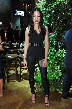 Jessica Gomes: Front row at David Jones autumn/winter fashion launch Indie Fashion, Grey Fashion, Fashion Pants, Autumn Fashion, Vintage Fashion, Fashion Show Dresses, Fashion Outfits, Trendy Black Outfits, Vogue Photoshoot