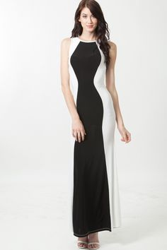 Color Block Maxi Dress @ Cicihot sexy dresses,sexy dress,prom dress,summer dress,spring dress,prom gowns,teens dresses,sexy party wear,women's cocktail dresses,ball dresses