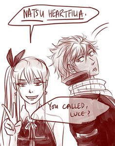 Nalu Notice how he didn't correct her. He heard his name and responded. I'd like her better as. Fairy Tail Tumblr, Fairy Tail Meme, Fairy Tail Quotes, Fairy Tail Comics, Fairy Tail Natsu And Lucy, Fairy Tail Art, Fairy Tail Guild, Fairy Tail Ships, Fairy Tail Family