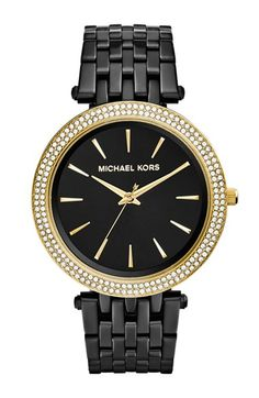 MICHAEL Michael Kors Michael Kors 'Darci' Crystal Bezel Bracelet Watch, 39mm (Nordstrom Exclusive) available at #Nordstrom
