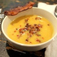Creamy Butternut Bisque with Bacon (from Paleo Parents)