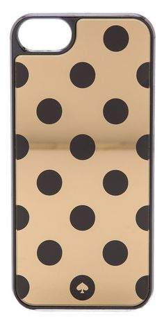 Kate Spade New York Le Pavillion Jewels Iphone 5 / Case - Gold/Black Cool Iphone Cases, 5s Cases, Htc One, Macbook, Ipad, Kate Spade Iphone, Samsung, Cute Cases, Phone Covers