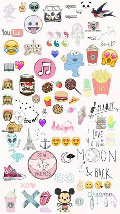Cute wallpaper on we heart it totally tumblr pinterest explore and share food emoji wallpaper on wallpapersafari voltagebd Choice Image