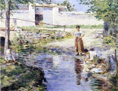 Theodore Robinson Gossips painting for sale, this painting is available as handmade reproduction. Shop for Theodore Robinson Gossips painting and frame at a discount of off. Post Impressionism Art, American Impressionism, Impressionist Landscape, Impressionist Artists, Monet, Theodore Robinson, James Abbott Mcneill Whistler, Inspirational Artwork, Seascape Paintings