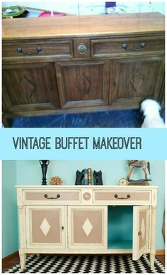 #Furnituremakeover. This piece was old, dingy and pretty banged up. See how it came to life.