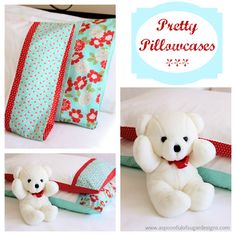 How to Sew a Pillowcase | A Spoonful of Sugar