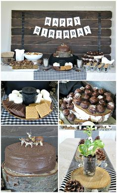 Modern Camping Themed Birthday Party Ideas - designdininganddiapers.com