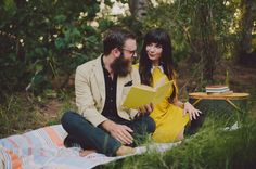 Wes Anderson Inspired Engagement Photos