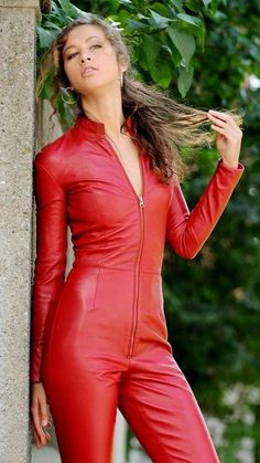 Princess Fatale in leather catsuit