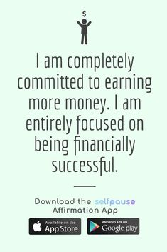 A simple way to choose, listen to and create positive affirmation all in one place. Get the Selfpause app to listen to thousands of affirmations and record your own. #financeaffirmation #moneyaffirmation #millionairemindset #successaffirmation Career Affirmations, Wealth Affirmations, Positive Affirmations, Think And Grow Rich, Abundance, Simple Way, Mindset, Saving Money, Entrepreneur