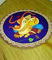 Ganpati rangoli designs find more at http://rangolidesigns.org