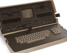 old vintage big ass computer Laptop