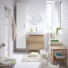 Ikea bathroom remodel ideas bathroom ideas designs a medium size white bathroom with wall cabinets in Ikea Bathroom, White Bathroom, Bathroom Furniture, Bathroom Storage, Small Bathroom, Bathroom Ideas, Bathroom Designs, Bad Styling, Best Floor Tiles