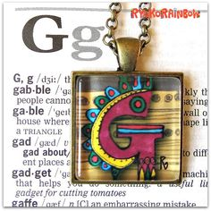Alphabet  letter necklace Alphabet necklace by RyokoRainbow