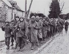 106th Infantry Division -  American prisoners from 99th Division captured during the first two days of the battle, 16-17 december 1944. Many did not even make it to the prisoncamps, many more perished in the camps. Merlsheid