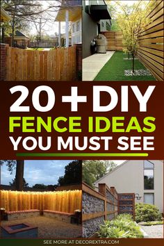 Fence design ideas for privacy. Fences can make or break your curb appeal and home aesthetic. They are no longer only to secure your backyard and mark Diy Backyard Fence, Diy Privacy Fence, Privacy Fence Designs, Diy Fence, Fire Pit Backyard, Backyard Games, Fence Ideas, Diy Patio, Backyard Ideas