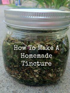 How to make a homemade tincture. @Terri Osborne McElwee Osborne McElwee Babin