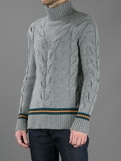 MCQ BY ALEXANDER MCQUEEN - CABLE KNIT SWEATER
