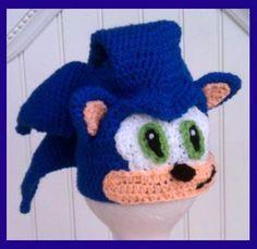 Crochet Sonic the Hedge Hog Beanie - Pattern  3.99 Crochet Beard 1b5515d15d2