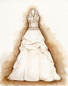 Portrait of a Dress - by Kristina Bailey