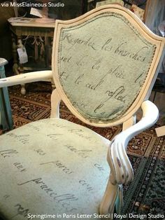 Write on! 10 Amazing Furniture Painting Ideas With Letter Stencils