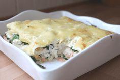 Lakselasagne med ostesaus og spinat - fra 12 måneder