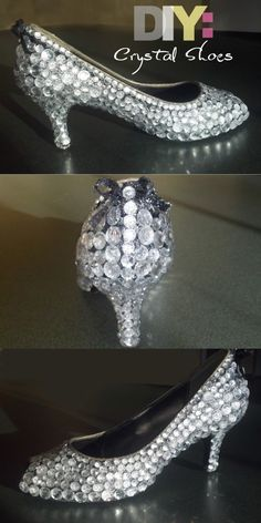 DIY crystal shoes.... Green & white maybe??