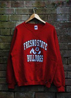 be0ecdd93e4a0 Image of Vintage Fresno State Bulldogs Sweatshirt Size Large