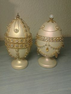 Christmas Crafts, Christmas Decorations, Egg Crafts, Faberge Eggs, Gifts For My Boyfriend, Egg Art, Egg Decorating, Homemade Gifts, Happy Easter
