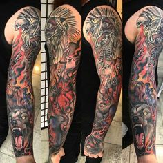 awesome Tattoo Sleeve - Mental Sleeve Tattoo | Best Tattoo Ideas Gallery