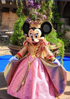 Princess Minnie Mouse in one of her Disney Gardens! Walt Disney, Disney Theme, Cute Disney, Disney Magic, Disney Mickey, Disney Parks, Disney Pixar, Disney Princes, Parc Disneyland